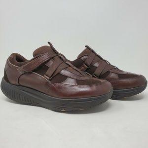 Skechers Shape Ups Brown Leather Walking Shoes 8